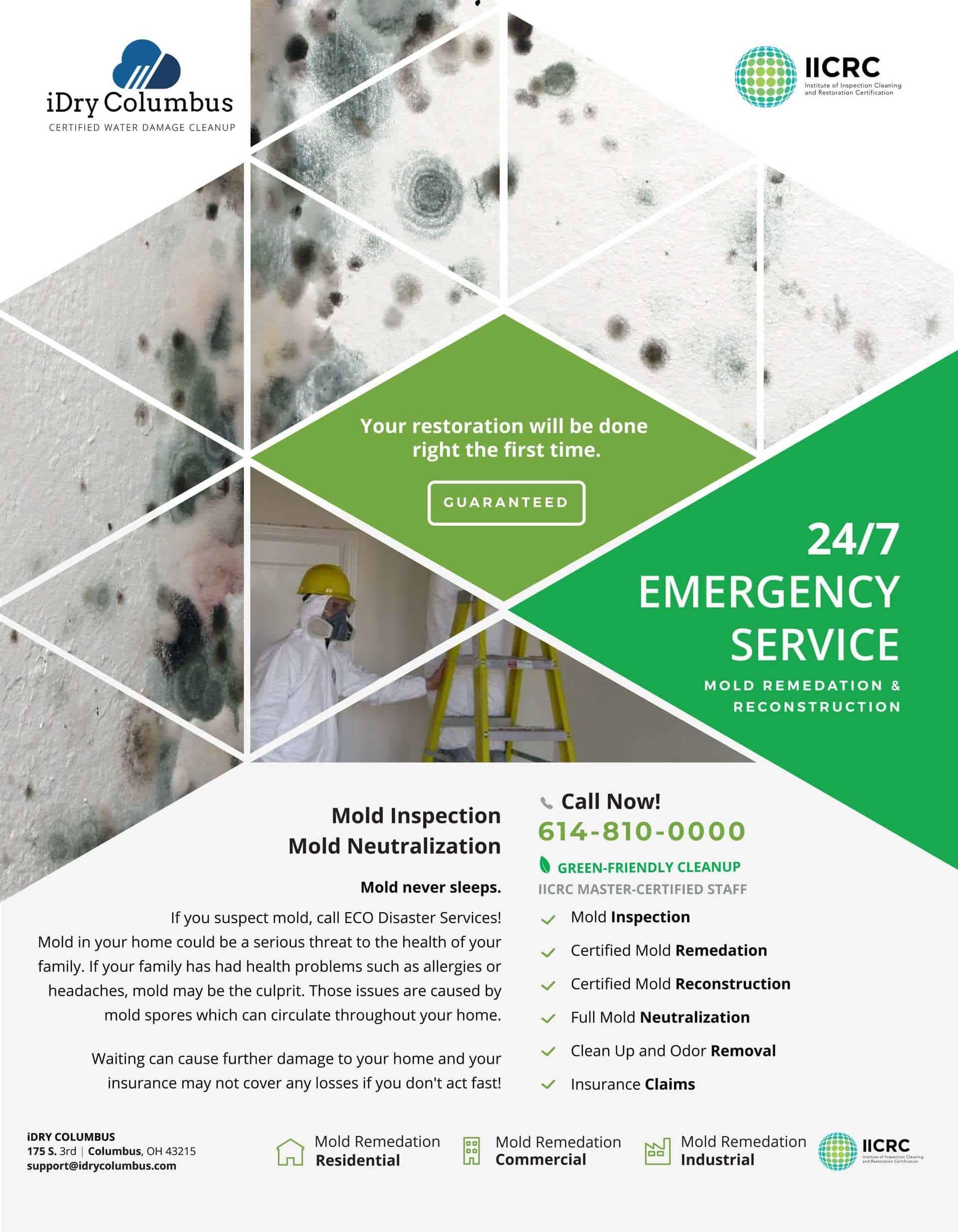 Blacklick Water Damage & Mold Remediation • IDry Columbus